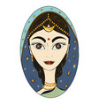 beautiful indian woman in national clothes vector image