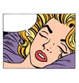 Beautiful woman blonde sleeps and dreams vector image