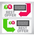 Best Offer Sale Banner with Place for Your Text vector image vector image
