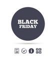 black friday sign icon sale symbol vector image vector image