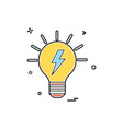 blub power electric icon design vector image