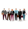 business people in formal clothing vector image