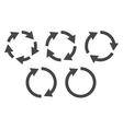 Circular arrows icon set vector image