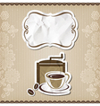 Coffee retro menu vector image vector image