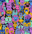 Colorful Bright Seamless Pattern With Animals vector image vector image