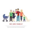 concept big family portrait vector image vector image