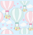 cute baby teddy bear in the balloon vector image vector image