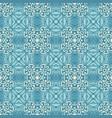 damask seamless tiles design blue vector image vector image