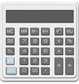desktop office calculator with lcd display vector image