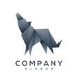 dog origami style logo vector image