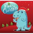 Dragon Merry Christmas vector image vector image