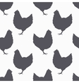 Farm bird silhouette seamless pattern Chicken vector image vector image
