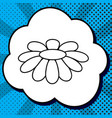 fower chamomile sign black vector image vector image
