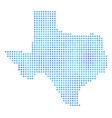 frozen texas map vector image