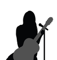 girl with guitar music vector image vector image