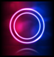 glowing neon round frame glowing lighting and vector image vector image