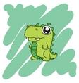 green dinosaur T-Shirt design vector image vector image
