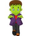 halloween frankenstein character vector image vector image