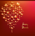 happy diwali card template indian festival of vector image vector image