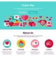 I Love You Website Design vector image vector image