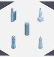 isometric skyscraper set of building exterior vector image