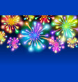 large fireworks display - background vector image vector image