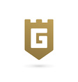 Letter G shield logo icon design template elements vector image vector image