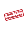Long Term Insurance Rubber Stamp vector image vector image