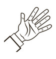 male palm hand gesture palm business icon vector image vector image