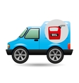 mini truck canister oil icon vector image
