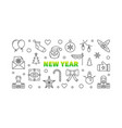 new year line horizontal vector image vector image