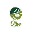 olive logo design template vector image
