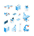 operating room isometric icons set vector image