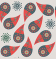 paisley seamless pattern it is located in swatch vector image vector image