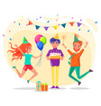 people celebrating birthday friend at party vector image vector image