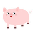 pink pig animal smiling face cute cartoon funny vector image vector image
