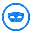 Privacy Mask Rounded Icon Rubber Stamp vector image