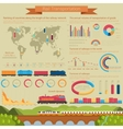 Rail transportation infographic or infochart vector image vector image
