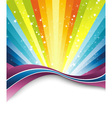rainbow banner template vector image vector image