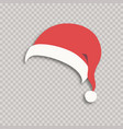santa hat isolated on background vector image vector image