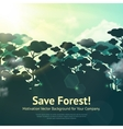 Save Forest vector image vector image