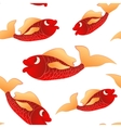 Seamless pattern red little fishes vector image vector image