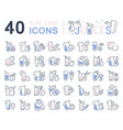 set line icons juices vector image