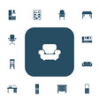 set of 13 editable furniture icons includes vector image