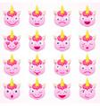 set of emoji unicorn vector image vector image