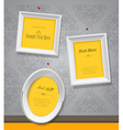 Set of empty picture frames for your own vector image vector image