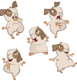 set of guinea pigs cartoon vector image vector image