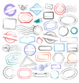set postal stamps and postmarks isolated on vector image vector image
