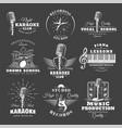 set vintage musical labels vector image