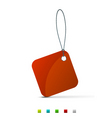 shopping tag vector image vector image